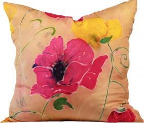 Silk Pillow - Vintage Flower