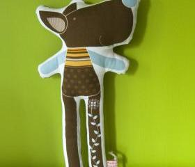 printed soft toy - Tristao the wolf