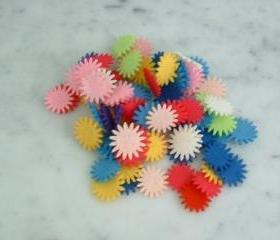 100 Mini centers for your flowers 1/8 inch or 2 cm