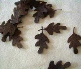 L102 -- 10 leaves on brown felt 2 inch
