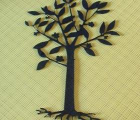 Black tree with roots