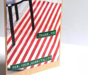 Eco Friendly Thank You Cards - Upcycled Christmas Card Set - Buy 3 Get 1 & Free Shipping
