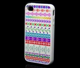 Floral Pattern iPhone 4 and iPhone 4S Rubber Case