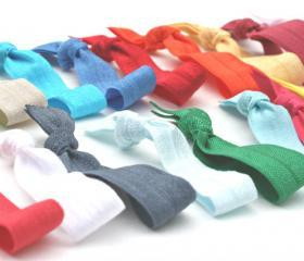 FREE SHIPPING Hair Tie (30) Grab Bag - Knotted Hair Ties - Emi Jay Like Ribbon Hair Ties - Women's Hair Accessories