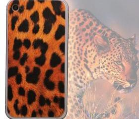 Cool Leopard Print Full Body Cover Skin Sticker Shield For iPhone 4S