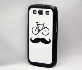 Mustache Bicycle Galaxy S3 Hard Cover Case
