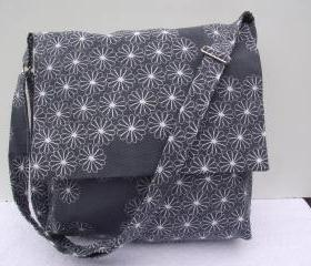 Mini messenger grey and white