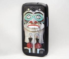 Wooden Indian Totem Galaxy S3 Hard Cover Case