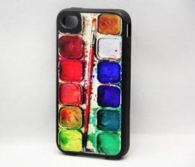 Watercolor Palette iPhone 4 and iPhone 4S case, Hard Plastic Case and Rubber Case
