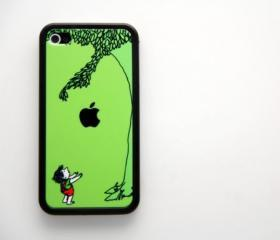 Vintage giving tree iPhone 4 and iPhone 4S Case, Hard Plastic Case,Rubber Case