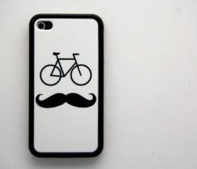 Bicycle Mustache iPhone 4 and iPhone 4S Rubber Case