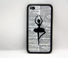 Lady Dancer iPhone 4 and iPhone 4S Rubber Case