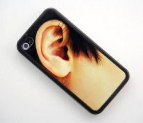 Men Ear Design iPhone 4 and iPhone 4S Rubber Case