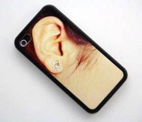 Lady Ear Design iPhone 4 and iPhone 4S Rubber Case