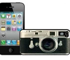 Vintage Camera iPhone 4 and iPhone 4S Case, Hard Plastic Case,Rubber Case