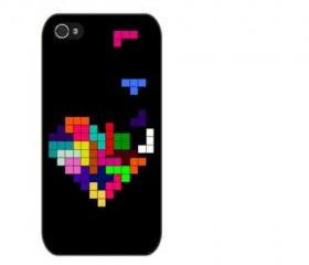 Tetris Design iPhone 4 and iPhone 4S Rubber Case