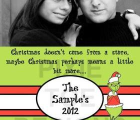 The Grinch Photo Christmas Card
