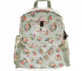 Waterproof Retro Flower Print Backpack