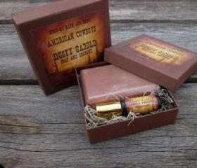 Dusty Saddle American Cowboy Soap and Cologne Set