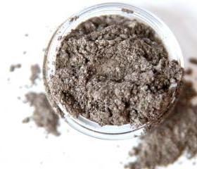 Smoke - Brown with Silver Vegan Mineral Eyeshadow - Handcrafted Makeup