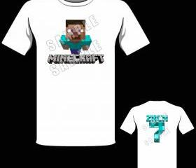 Minecraft STEVE Personalized T-Shirt