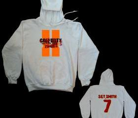 CALL OF DUTY BLACK OPS 2 ZOMBIE HOODED SWEATSHIRT