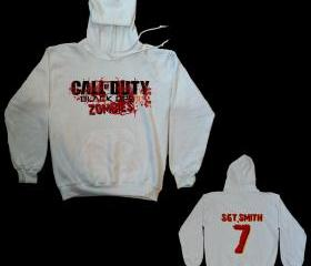 CALL OF DUTY BLACK OPS 2 ZOMBIE #2 HOODED SWEATSHIRT