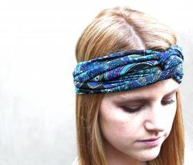 Headband, Knotted Headband, Teal, Black, Purple, Pink