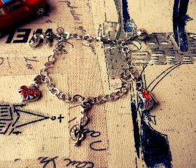 England Charm Bracelet - British / English Theme 
