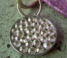 Crystal Clear Swarovski Rhinestone Pet ID Tag 