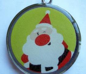 Santa Holiday Pet ID Tag