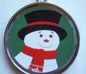 Snowman Holiday Pet ID Tag