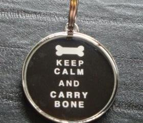 Keep Calm & Carry Bone Pet ID Tag