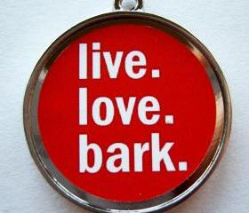 Bark Red Pet ID Tag