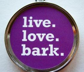 Bark Purple Pet ID Tag