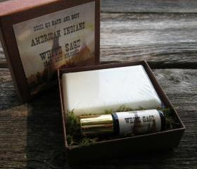White Sage American Indians Soap and Cologne Set