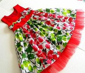 Christmas Dress Sewing pattern, 6 months to 10 years, Ashley Paneled Dress