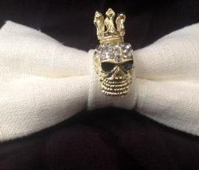 childrens King Skull Bow Tie
