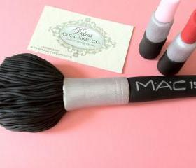Mac Make-up Inspired Blush Brush Upgraded & 2 Lipsticks Perfect for Cake toppers, Bridal Showers, Birthday Parties or Any Mac-Make-up Lover