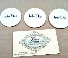 Baby Dior (Inspired) Cupcake Toppers Perfect for Baby Showers. We have all designer (Inspired) Cupcake Toppers