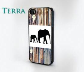 Elephant Wood Grain Print - iphone 5 cases Cool iPhone Cases- Cool iPhone Cases