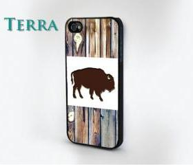 Buffalo Wood Grain Print - iphone 5 cases Cool iPhone Cases- Cool iPhone Cases