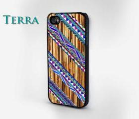 iPhone 5 case - Coloerd Geometric Wood Grain