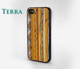 iPhone 5 case - Geometric Wood Grain