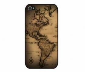 Vintage antique world map iPhone 4 and iPhone 4S Rubber Case
