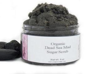 Dead Sea Mud Organic Sugar Scrub 4 oz