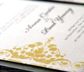  Modern Handmade Wedding Invitation - Pocket Fold Invitation Set with 4 Inserts - Contemporary Design - Sample Set