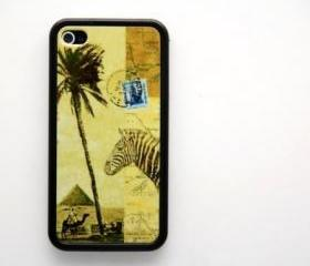 Vintage voyage to africa iPhone 4 and iPhone 4S Rubber Case