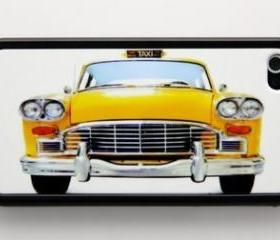 Classic yellow cab iPhone 4 and iPhone 4S Rubber Case