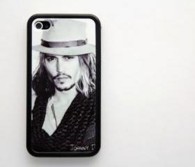 Vintage johnny depp iPhone 4 and iPhone 4S Rubber Case